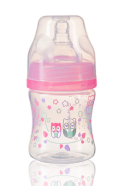 Antikoliková lahvička se širokým hrdlem Baby Ono - růžová