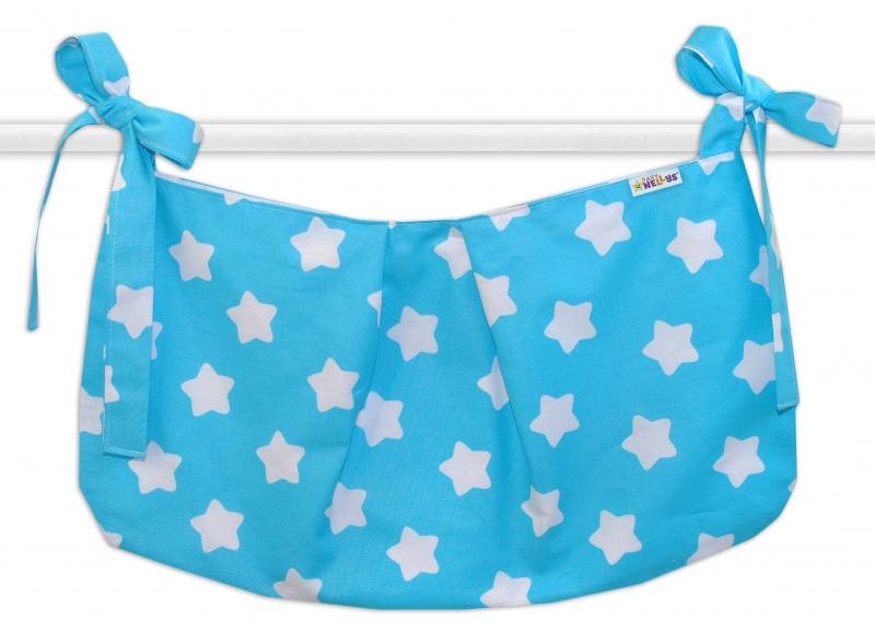 Kapsář na hračky Sweet Stars - tyrkysový