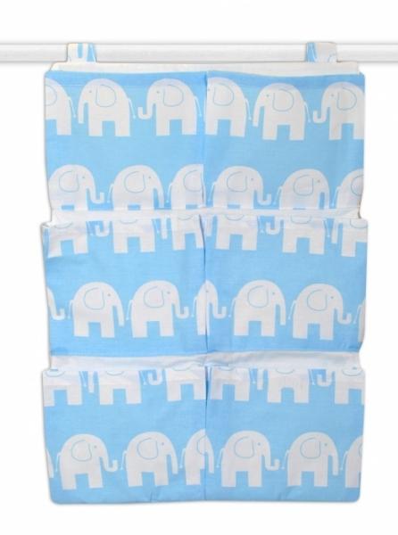 Mamo Tato Kapsář 40 x 65 cm - Sloni modří