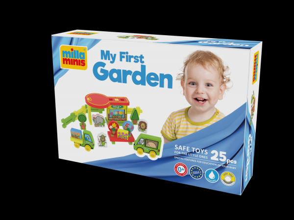 Teddies Moje první zahrada pěna 25ks v krabici 30x20x7cm 0+