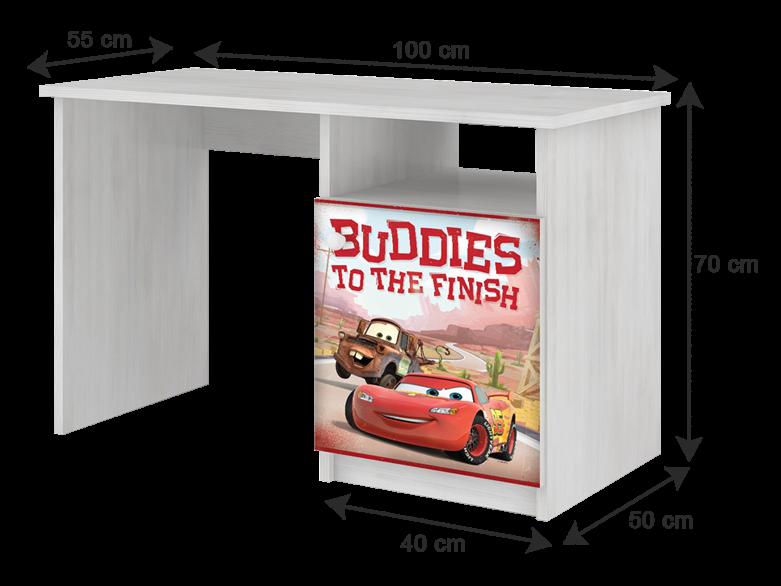 BabyBoo Psací stůl Cars, 70x100x55 cm, D19