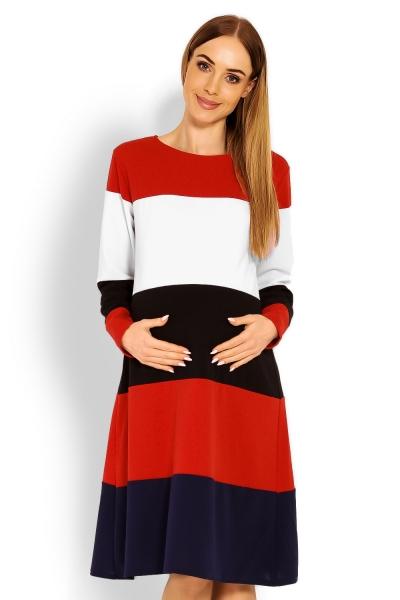 Be MaaMaa Těhotenské šaty dlouhý rukáv , L/XL