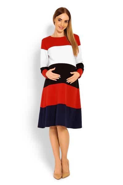 5c4f5a45bc4 Těhotenské šaty dlouhý rukáv