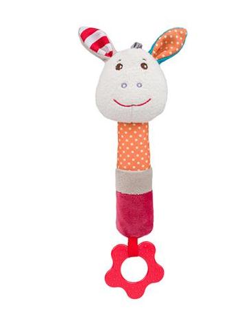 BabyOno Edukační hračka pískací s kousátkem - Frankie