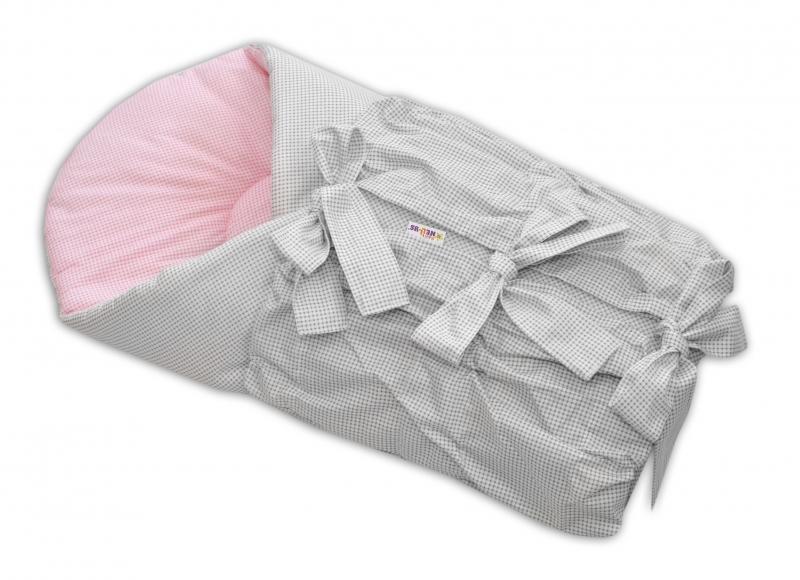 Zavinovačka šněrovací 75x75cm - Srdíčka růžové, bílé