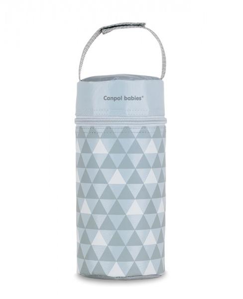 Termobox na kojeneckou láhev - vzory, trojúhelníčky