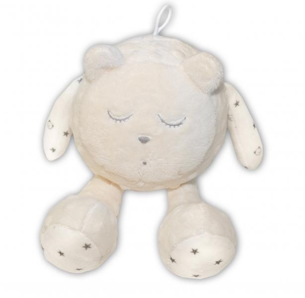 Šumící mazlíček Medvídek - Snímač spánku, smetanový