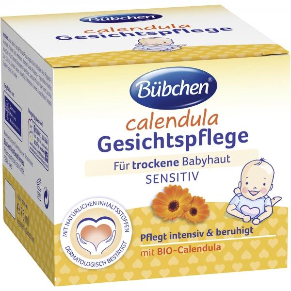 Bübchen Calendula Bio měsíčkový krém na obličej 75 ml