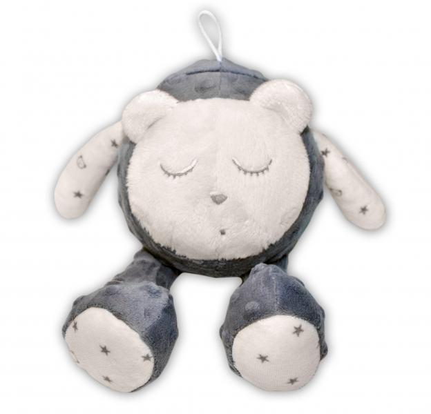 Šumící mazlíček Medvídek - Snímač spánku, šedý