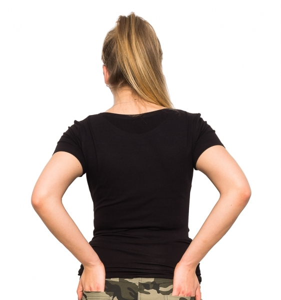 Be MaaMaa Těhotenské triko Mom Life - černá, vel. S