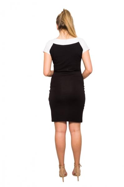 Be MaaMaa Těhotenská šaty Krista - černé, vel.M