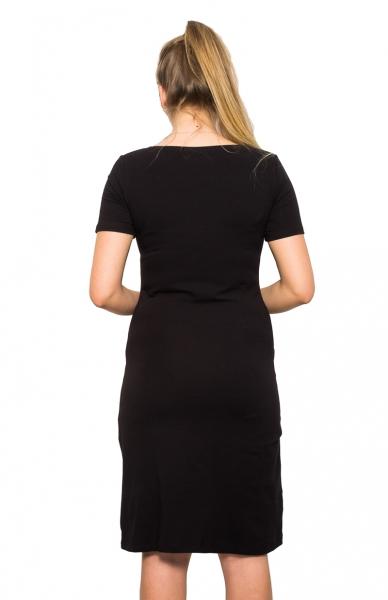 Be MaaMaa Těhotenská, kojící noční košile Queen - černá, B19