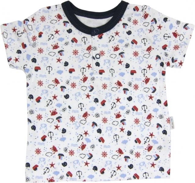 Bavlněné Polo tričko Parník - krátký rukáv, 92