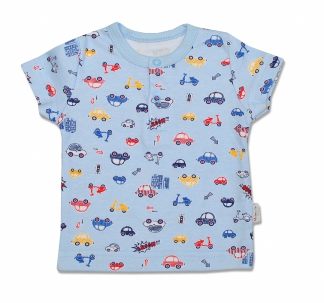 Bavlněné Polo tričko Veselé autíčko - krátký rukáv, 98