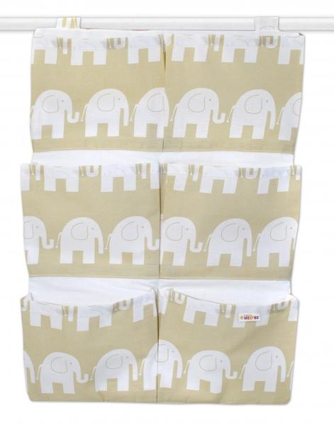 Kapsář 40 x 65 cm - Sloni béžoví