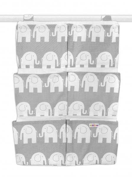 Kapsář 40 x 65 cm - Sloni šedí