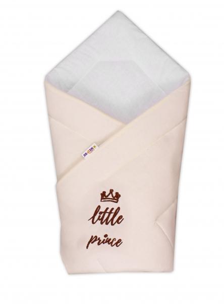 Baby Nellys Rychlozavinovačka Little Prince 78x78  - jersey - smetanová