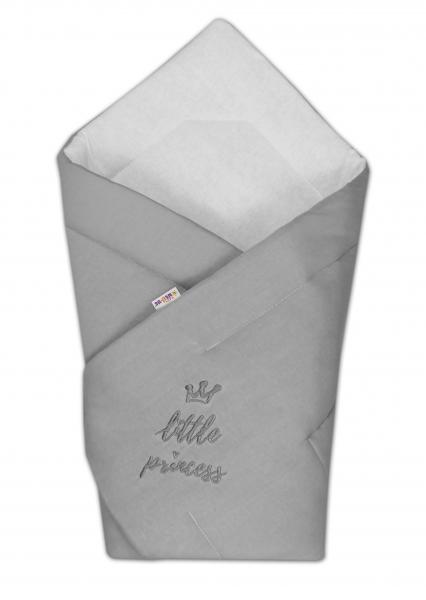 Baby Nellys Rychlozavinovačka Little Princess 78x78  - jersey - šedá