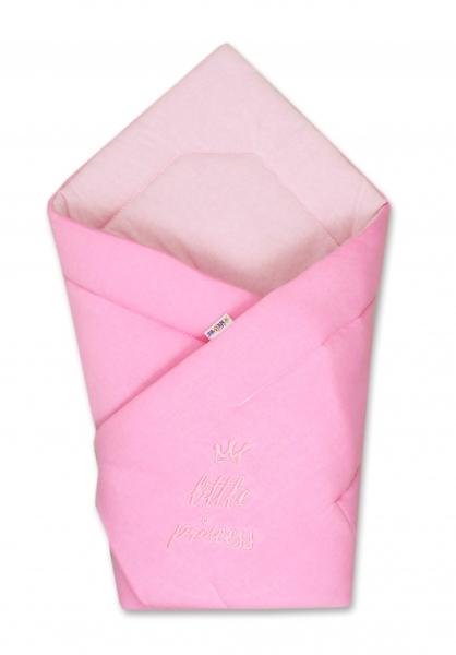 Baby Nellys Rychlozavinovačka Little Princess 78x78  - jersey - růžová