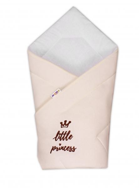 Baby Nellys Rychlozavinovačka Little Princess 78x78  - jersey - smetanová