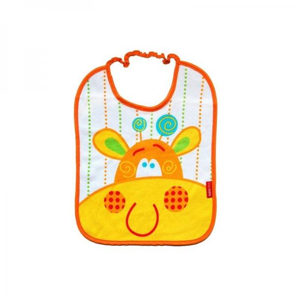 BOBO BABY Dvouvrstvý froté bryndáček - Žirafka