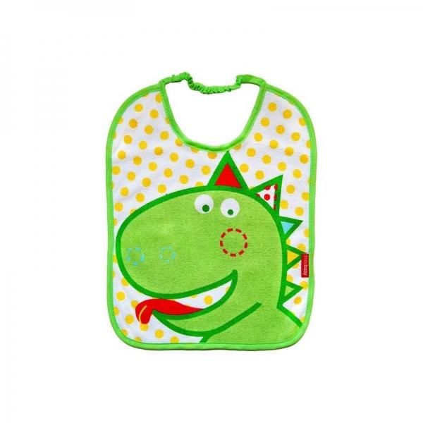 BOBO BABY Dvouvrstvý froté bryndáček - Dino