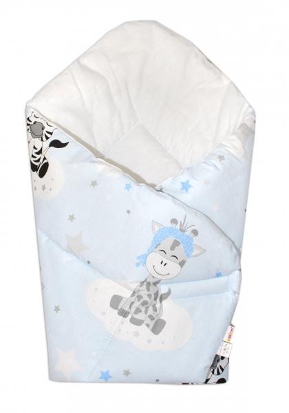 Baby Nellys  Novorozenecká zavinovačka Safari Baby - sv. modrá