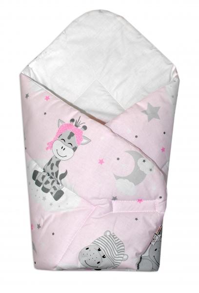 Baby Nellys  Novorozenecká zavinovačka Safari Baby - růžová