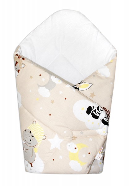 Baby Nellys  Novorozenecká zavinovačka Safari Baby - béžová