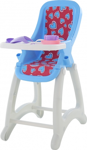 Židlička pro panenky - modro/bílá