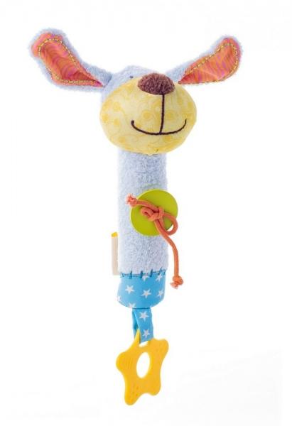 Edukační hračka pískací s kousátkem - Pejsek Ipo