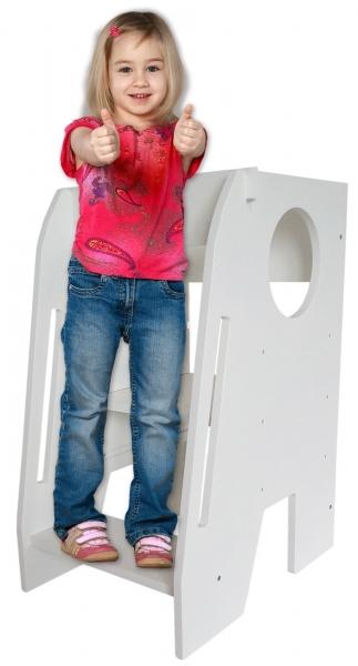 Učící věž - pomocník do kuchyně Nellys - bílá