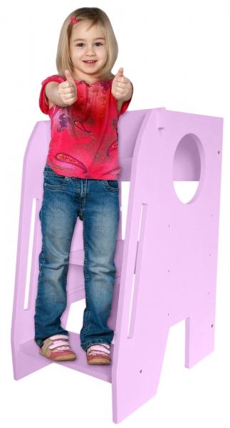 Učící věž - pomocník do kuchyně Nellys - růžová