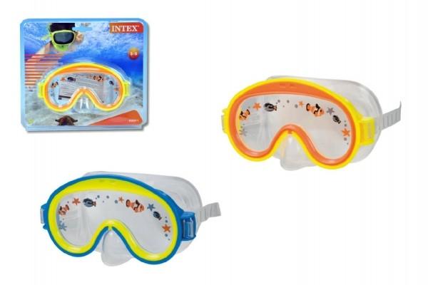 Potápěčské brýle dětské asst na kartě 23x20x7cm 3-8 let