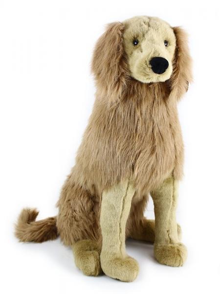 Plyšový pes zlatý retriever sedící 63 cm