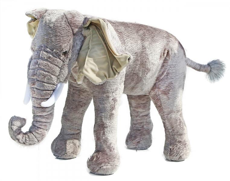 Velký plyšový slon 75 cm - možno sedět