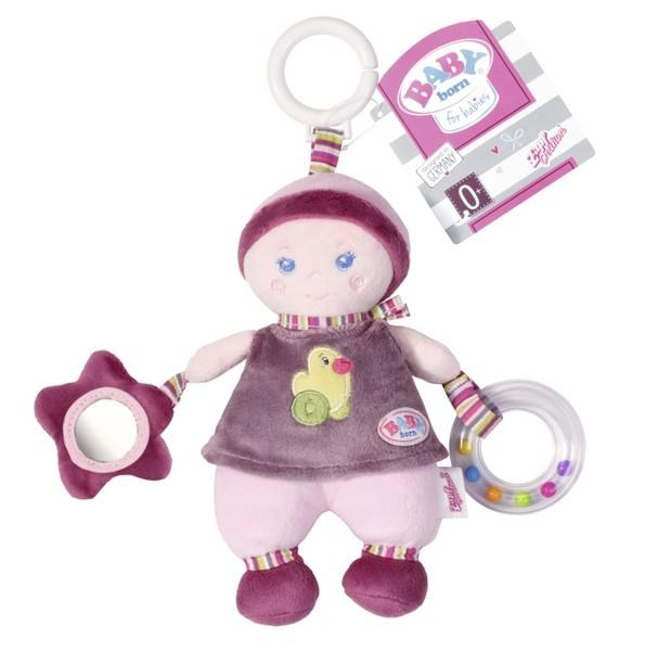 Závěsná panenka s aktivitami pro miminka BABY BORN