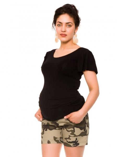 Be MaaMaa Těhotenské teplákový kraťasy Camo - maskáčové, vel. XL