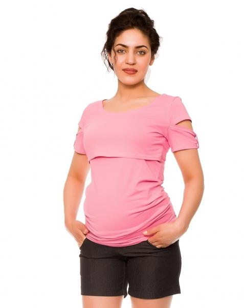 Be MaaMaa Těhotenské kraťasy Jeans Crush, černé, vel. XL