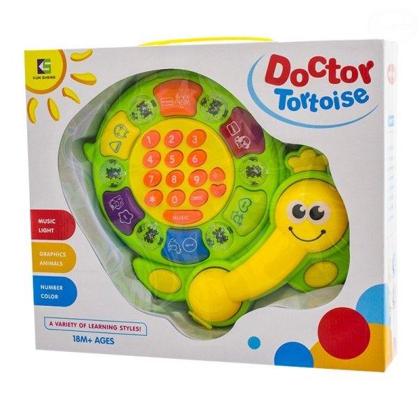 Euro Baby Edukační hračka Telefon - Želvička - zelená
