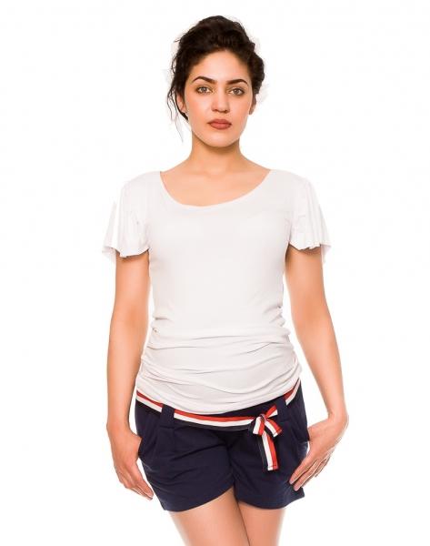 Těhotenské teplákové kraťasy Monika - granát, vel. XL, Velikost: XL