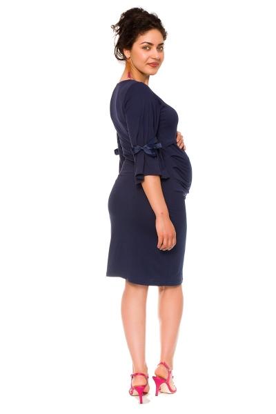 Be MaaMaa Elegantní těhotenské a kojící šaty Barbara - granát, vel. L