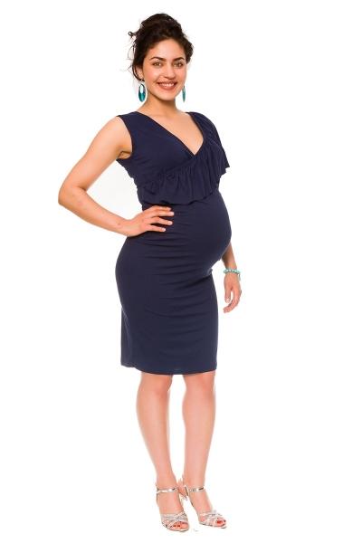 Be MaaMaa Letní těhotenské a kojící šaty Darla - granát, vel.XL