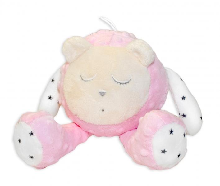 Šumící mazlíček Medvídek - Snímač spánku, růžový