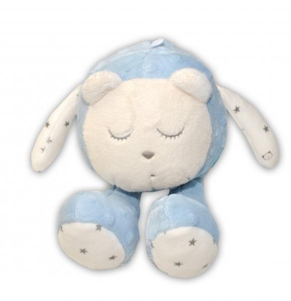 Šumící mazlíček Medvídek - Snímač spánku, modrý