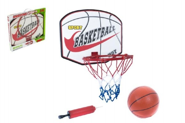 Basketbalový koš + míč s pumpičkou v krabici 49x42x4cm