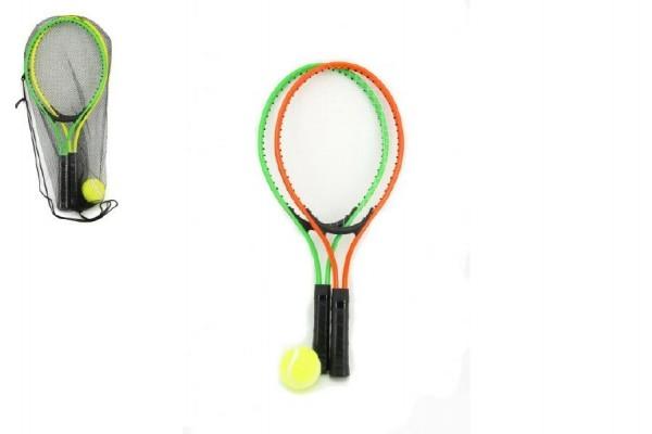 Teddies Sada dětský tenis 22x53cm asst 2 barvy v síťce
