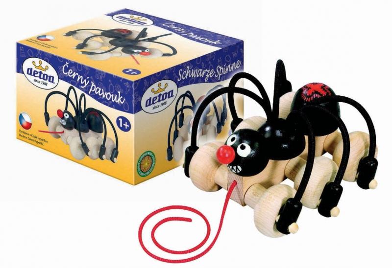 Pavouk tahací, dřevěný