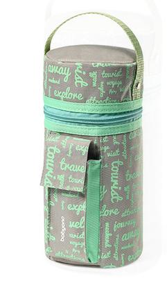 Cestovní ohřívač do auta - šedo/zelený