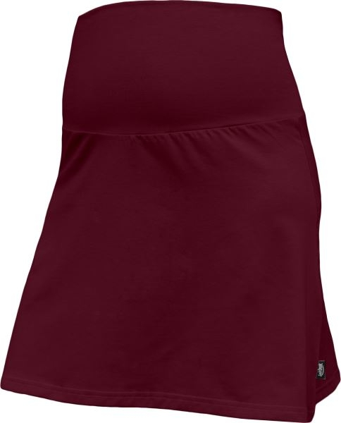 Letní těhotenská sukně Jolana - Áčkový střih, bordo, vel. M/L, Velikost: M/L